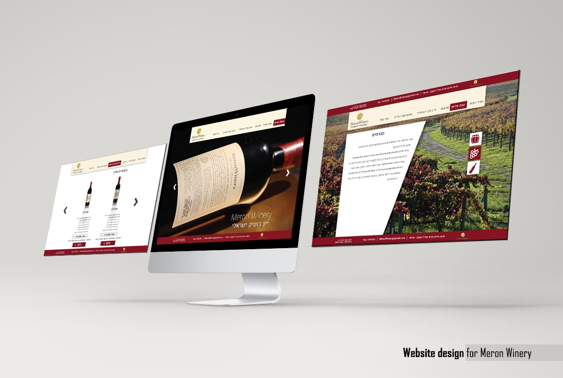 Website design - Meron Winery
