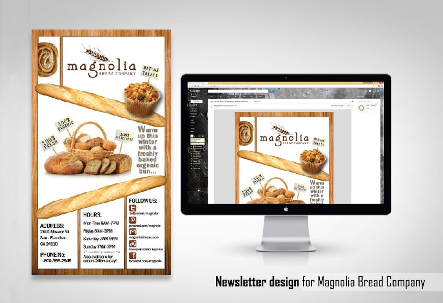 Newsletter design - Magnolia bakery
