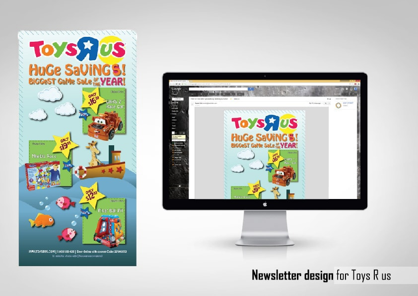 Newsletter design - Toys R Us