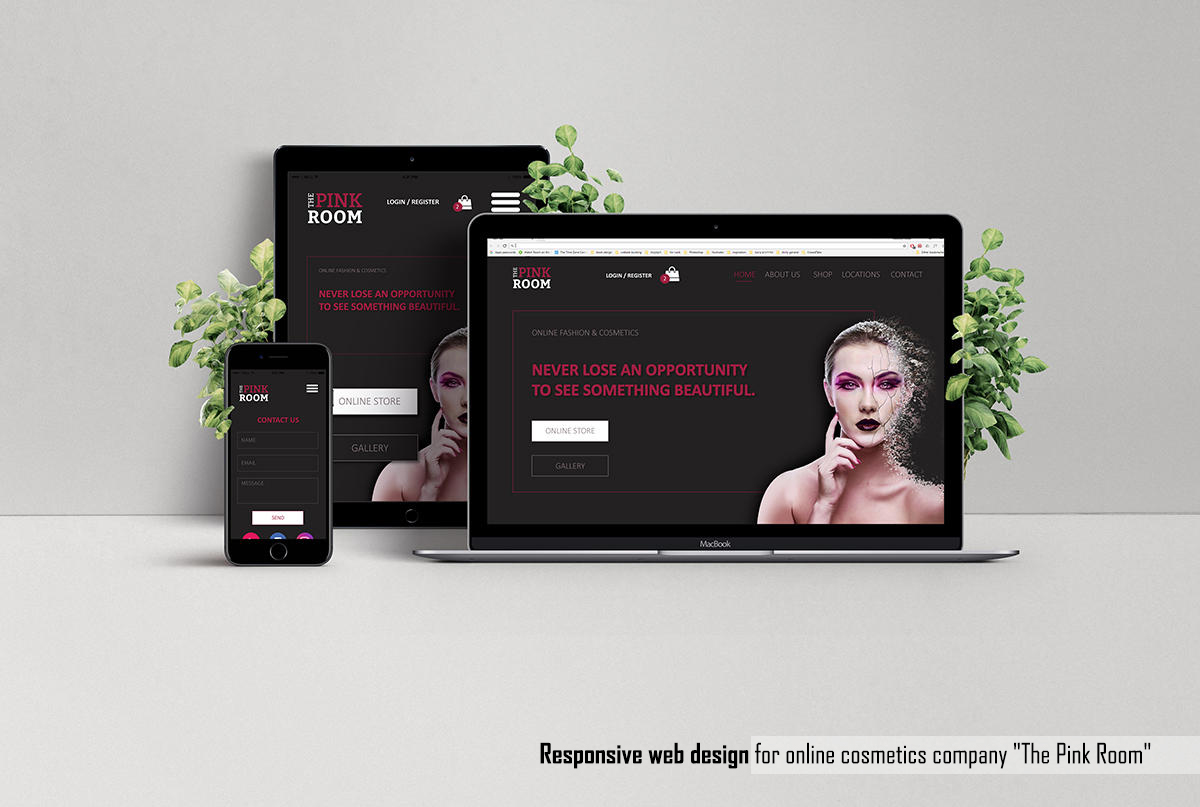 Responsive website - The Pink Room
